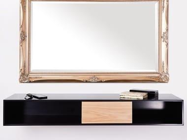Rectangular wall-mounted Corian® console table POSH | Corian® console table