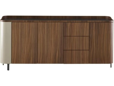 Multi-layer wood sideboard with doors with drawers POSTMODERNE | Sideboard