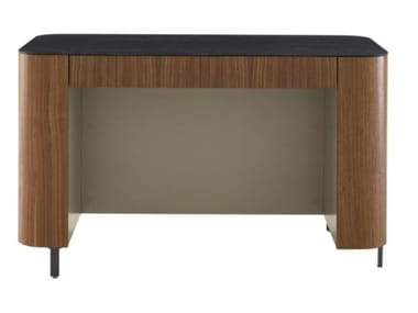 Rectangular wood veneer writing desk POSTMODERNE | Writing desk