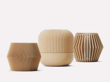 Levitating wood vase POT