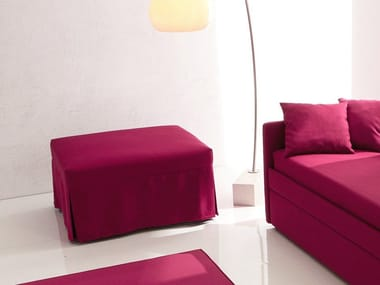 Upholstered fabric pouf bed with removable lining POUF LETTO