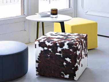 Upholstered fabric pouf POUF