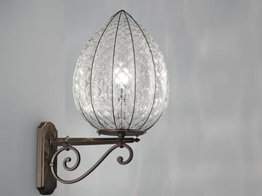 Murano glass outdoor wall lamp POVEGLIA EB 423