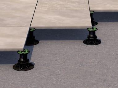 Modular system for raised flooring PP LEVEL PLUS