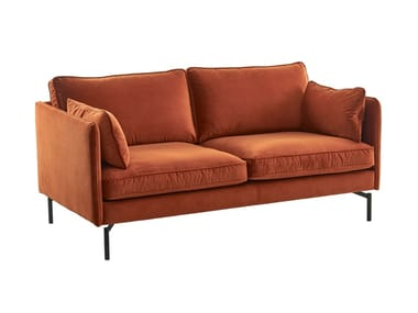 2 seater velvet sofa with fire retardant padding PPNO.2 | Velvet sofa