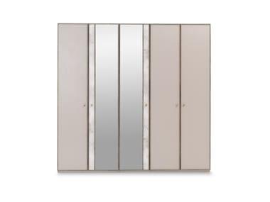 Mirrored wooden wardrobe PRAGA | Wardrobe