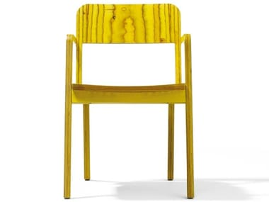 Wooden chair with armrests PRATER
