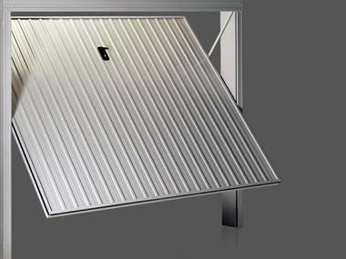 Up-and-over steel garage door PRATIC