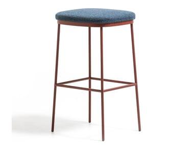 Upholstered steel stool PRECIOUS | Stool