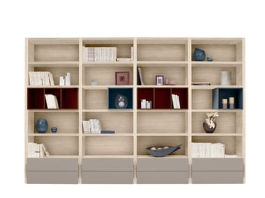 Open bookcase with drawers PREFACE - LAYOUT 4