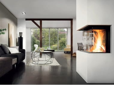 Wood-burning Fireplace insert with Panoramic Glass PREMIUM A-3RL-60H