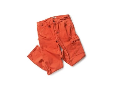Pantalone in tessuto Twill PRESS TOMATO