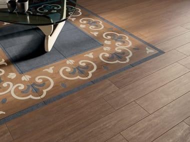 Pavimento/rivestimento in gres porcellanato effetto legno PRESTIGE BROWN