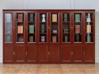 Sectional wood fibre bookcase PRESTIGE C601