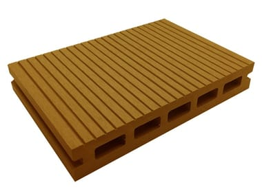 Engineered wood outdoor floor tiles / decking PRESTIGE SAND