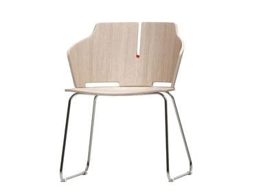 Sled base laminated wood chair PRIMA | Sled base chair