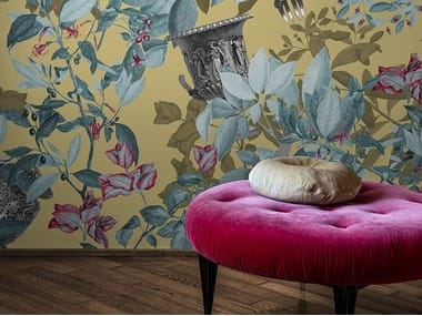 Digital printing wallpaper with floral pattern PRIMAVERA ROMANA