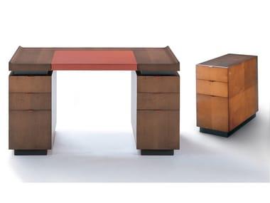 Rectangular wooden writing desk with drawers PRINCETON | Writing desk