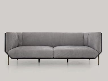 3 seater leather sofa PRISM