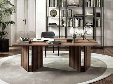 Rectangular rosewood writing desk PRISM | Writing desk