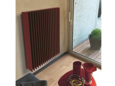 Vertical wall-mounted aluminium panel radiator PRISMA V