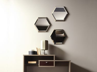 Contemporary style wall-mounted framed hall mirror PRISMA | Wall-mounted mirror