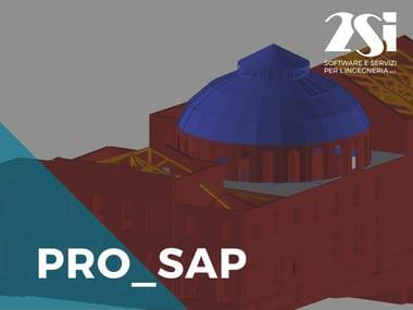 Software integrato Calcolo strutturale CAD PRO_SAP LT Avanzata