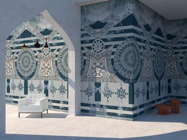 Rivestimento ceramico in grès laminato sottile decorato PROGETTO 2