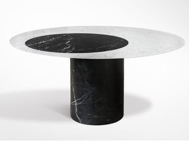 Tavolo rotondo in marmo PROIEZIONI | Tavolo