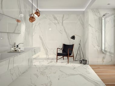 Porcelain stoneware wall/floor tiles with marble effect PROJECT EVOLUTION