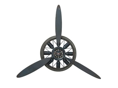 Wall-mounted steel clock PROPELLER