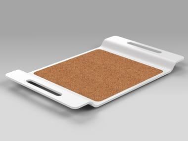Corian and cork rectangular tray PROPS | Tray