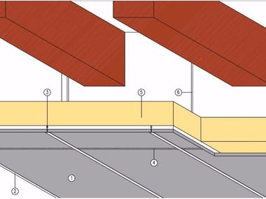 Fireproof panel for interior partition Wooden slab protection
