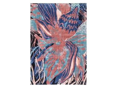 Handmade rug PSYCHEDELIC FLOWER
