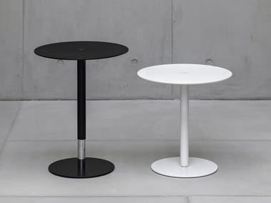 Height-adjustable round coffee table PTB
