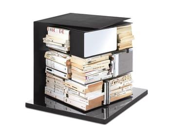 Open swivel metal bookcase PTOLOMEOX4 SHORT