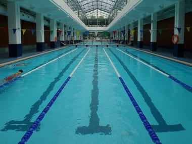 Olympic-size porcelain stoneware swimming pool PUBLIC SPORTS POOL