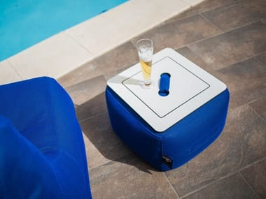 Square garden side table PUF POOL | Garden side table