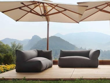 Fabric garden sofa PUFFONE | 2 seater garden sofa