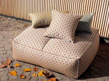Square fabric garden pouf PUFFONE | Square garden pouf