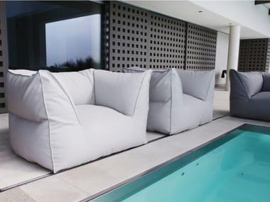 Garden bean bag with armrests PUFFONE | Garden armchair
