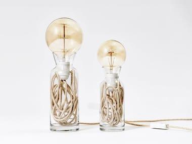 Direct light incandescent glass table lamp PULSE VINTAGE