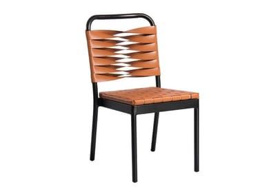 Open back aluminium garden chair PUMPKIN | Garden chair