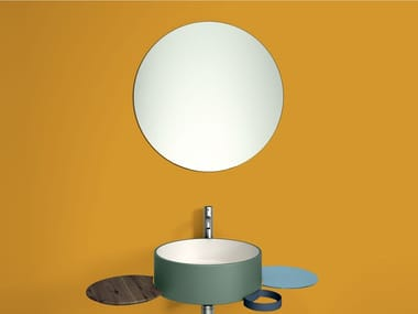 Round wall-mounted mirror PUNTO | Mirror