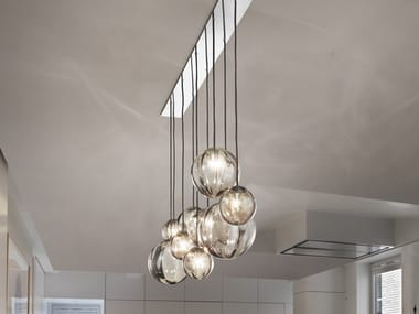 Direct light blown glass pendant lamp PUPPET SP L