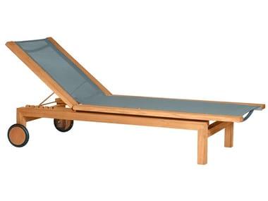 Batyline® sun lounger with castors PURE LIGHT | Sun lounger