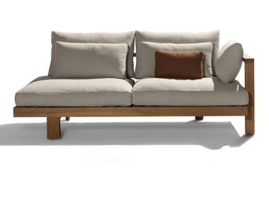 Sectional fabric garden sofa PURE SOFA | Sectional garden sofa