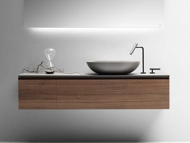 Wall-mounted vanity unit with drawers PURE | Vanity unit