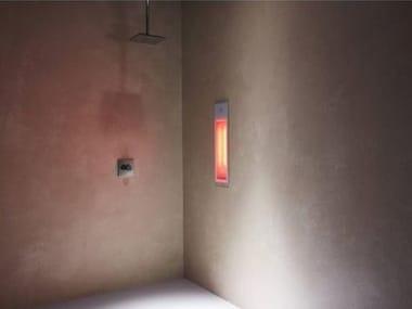Doccia solare a raggi UV e infrarossi ad incasso PURE | White