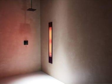 Doccia solare a raggi UV e infrarossi ad incasso PURE XL | Black